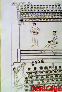 petarung, kick boxing