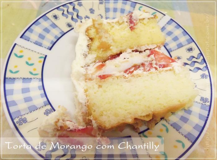 Torta de morango blog entre elas