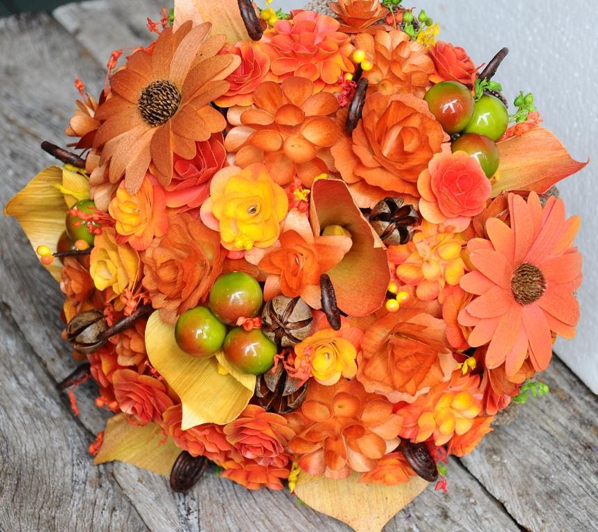 Поделки букеты из листьев на тему осень