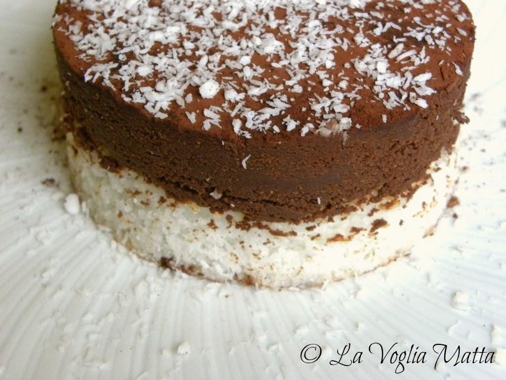 delizia bicolore al cocco e cioccolato