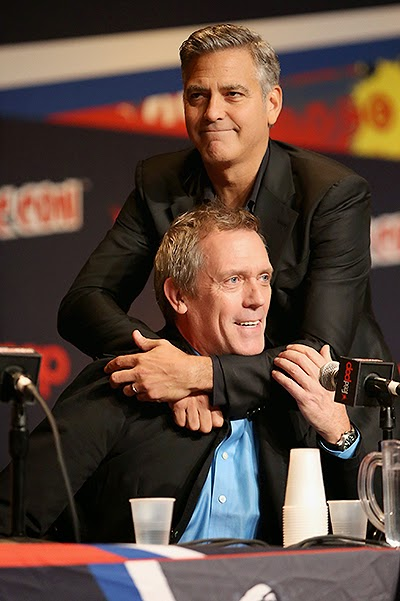 George Clooney and Hugh Laurie at Comic Con