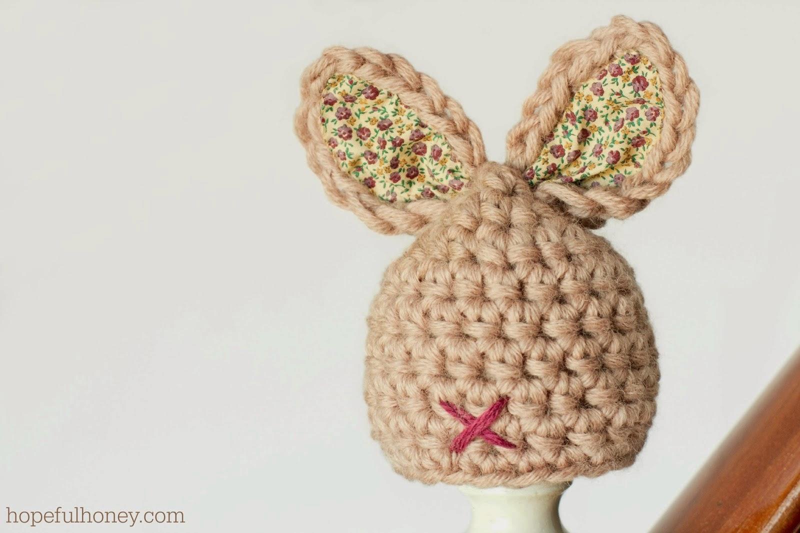 free crochet pattern newborn bunny hat