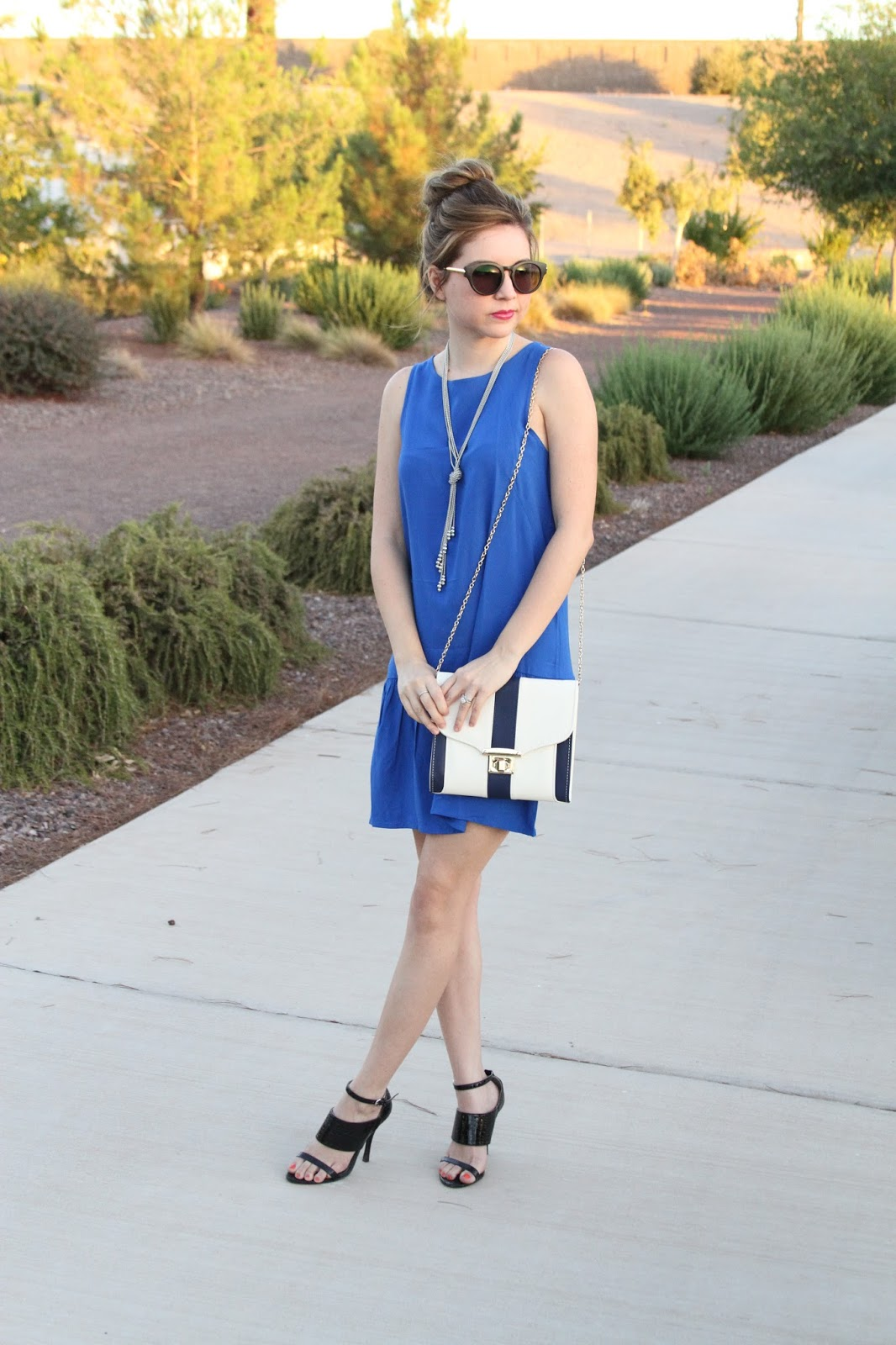 drop waist, blue, glam, sunnies