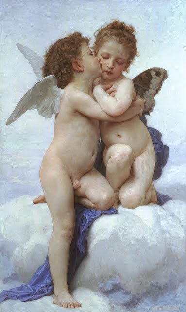 cupid,Bouguereau,classical painting