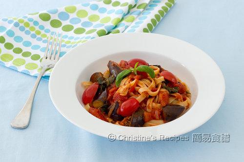 茄子蕃茄寬麵條 Eggplant Tomato Fettuccine02