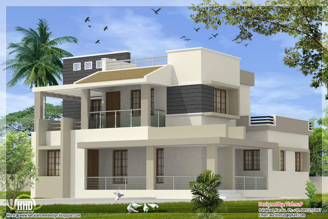 Modern contemporary 4 bedroom villa in 2170 sq.feet | home appliance