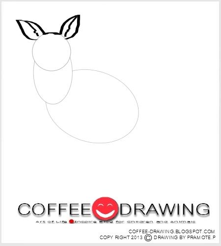 how to draw a kangaroo easy