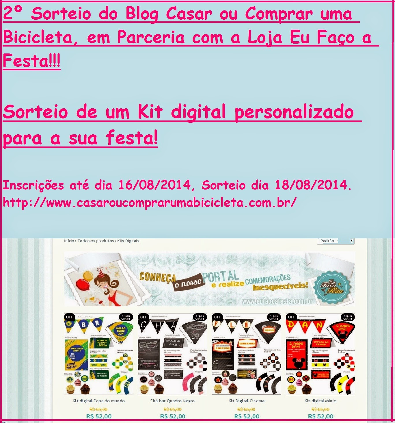 2º Sorteio do Blog!!!