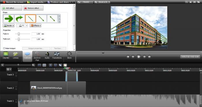Screen Recording & Video Editing Software toolsbar