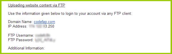 FTP Details BIGROCK