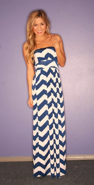 Sunkissed Stripe Maxi in Navy