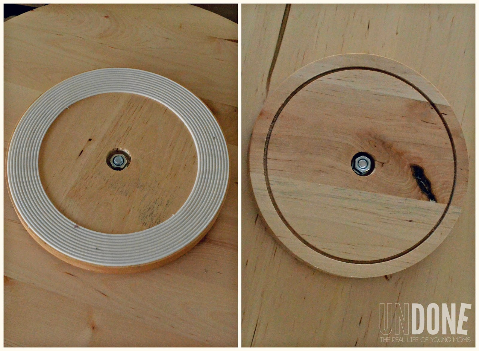 undone turn and ikea lazy susan into and activity chart