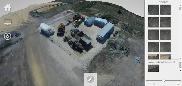 Small Construction Site - 3D Photomesh and Orthomosaic
