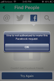 Facebook bloquea contactos a Vine