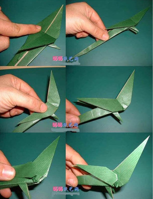 origami parrot instructions and how to make a paper