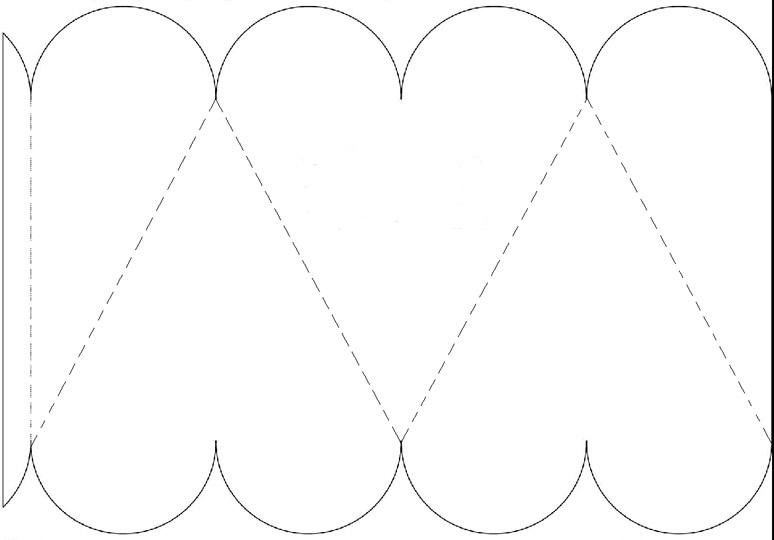 Moldes de cajas en forma de corazón - Imagui
