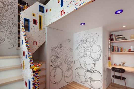 Escalera interior de dise o original ideas para decorar - Como decorar una escalera interior ...