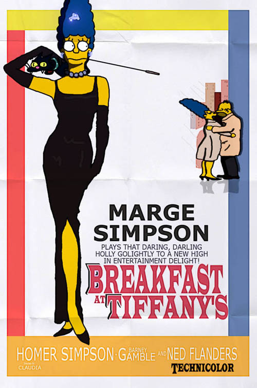 posters cinema simpsons - Breakfast at Tiffany's