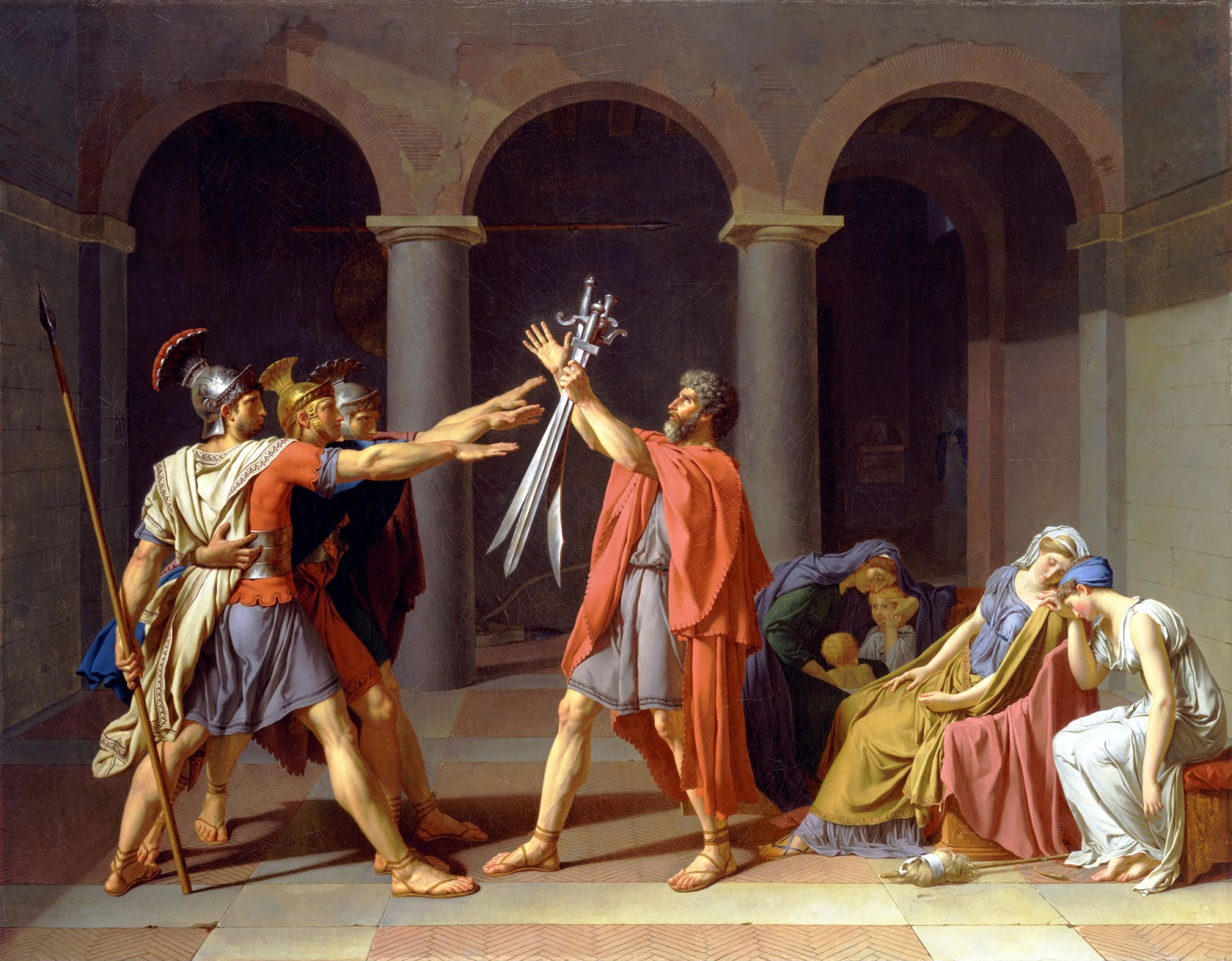 Oath of the Horatii By Jacques Louis DavidOath Of The Horatii