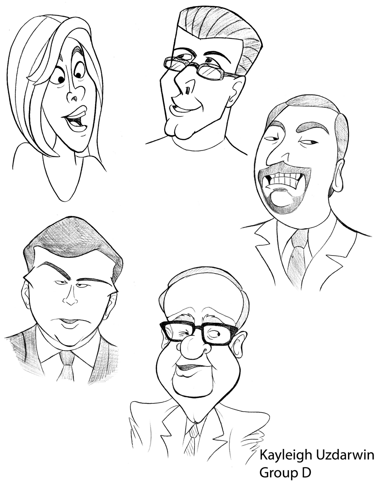 how to draw caricatures youtube