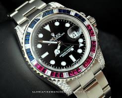 Rolex GMT Master Sapphire Rubby