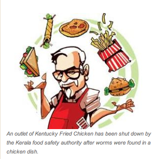 Kfc worms
