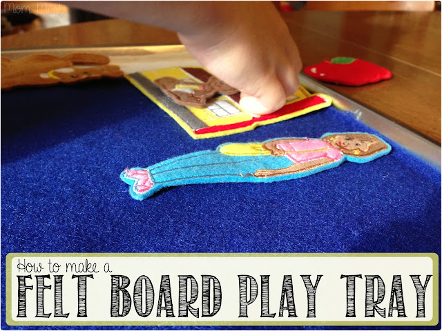 How to make a felt board play tray #DIY #CraftsForKids -Mom Mart