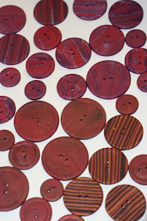 more necklettes, featuring homemade polymer clay buttons