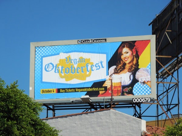 Vegan Oktoberfest Santa Monica billboard 2014