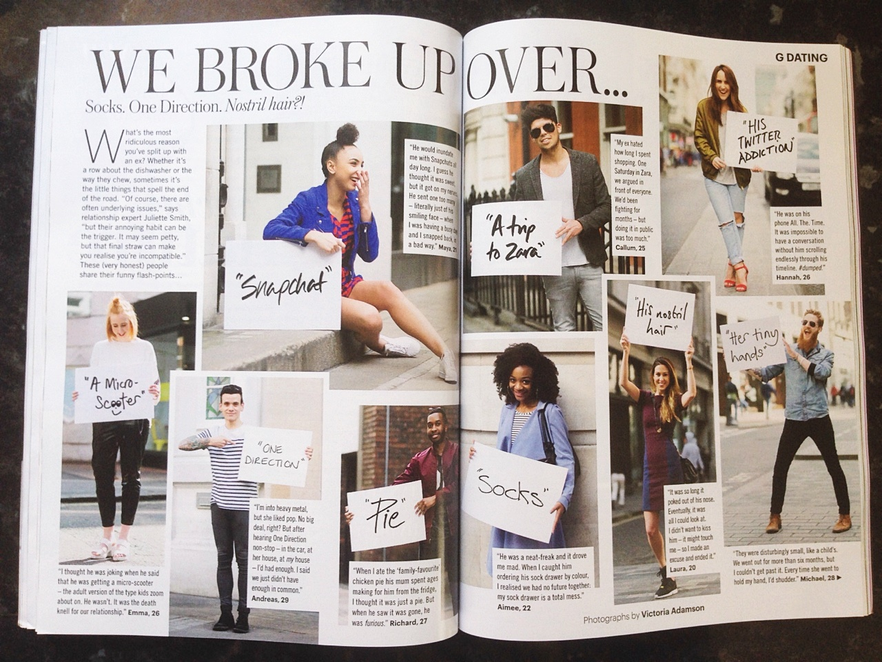 glamour magazine august 2015 we broke up over