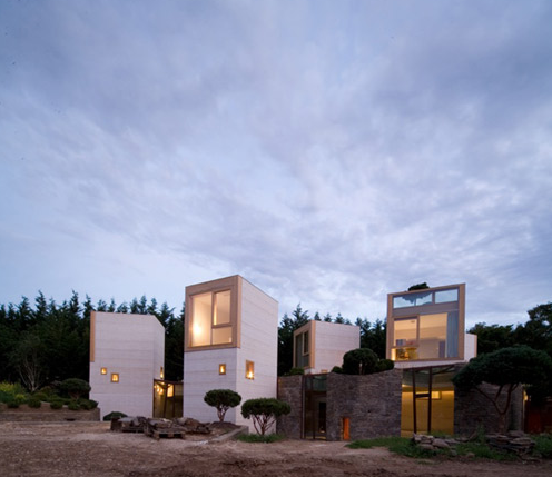 Concrete tower house