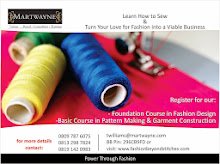 Foundation Course in Fashion Design. Start Date for Weekday & Weekend Options - 26 April 2014