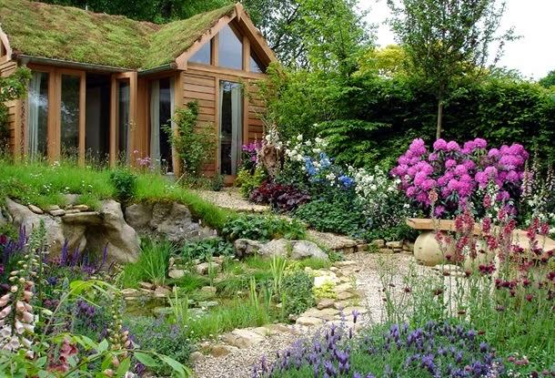 Дизайн маленького двора частного дома