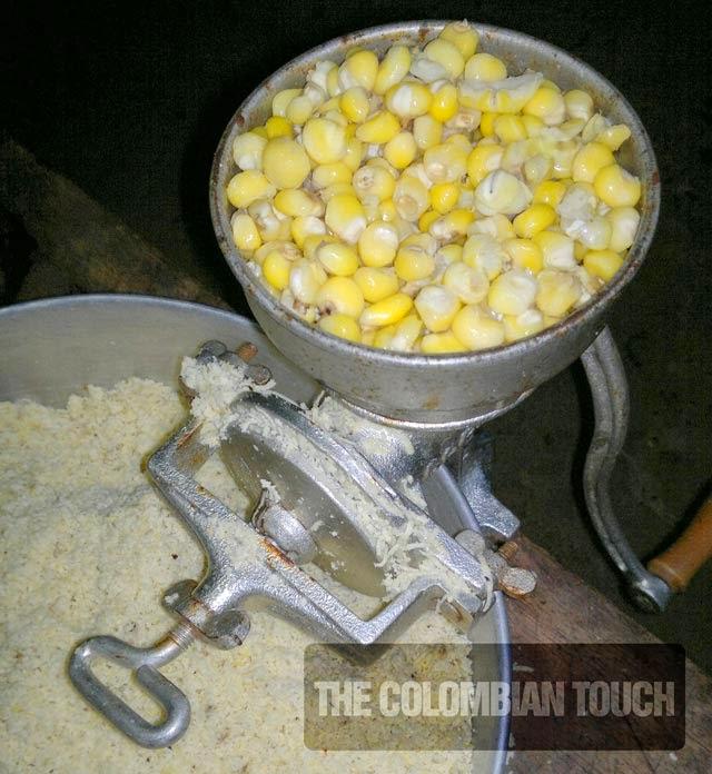 arepa maiz pelado lejia
