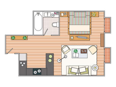 Blog achados de decora o quitinete kitnet ou studio for 35m2 apartment design