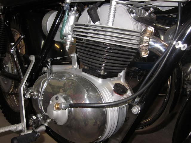 1963 Moto Parilla Wildcat Scrambler on Display at Vintage Moto Denver, Co