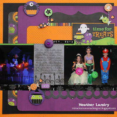Halloween Layout_Kids Characters_Trick Or Treat