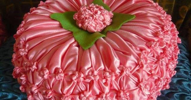 Hola manola capitone cojin flor de hortensia - Cojines redondos ...