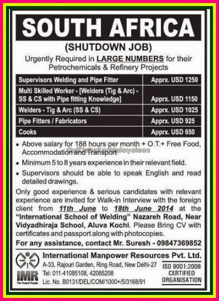 Shut Down Job Vacancies for South Africa - Gulf Jobs for ...