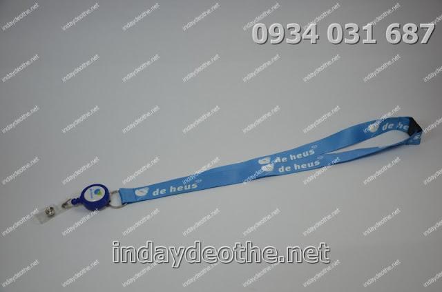 Làm dây đeo thẻ quảng cáo hcm dây đeo thẻ quà tặng   cung cấp dây đeo thẻ in logo   in logo lên dây