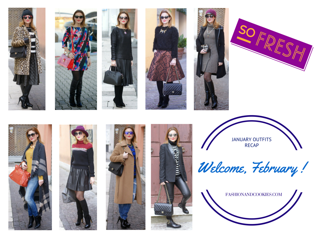 Welcome February, Fashion blog, Fashion blogger, outfits, recap, Fashion and Cookies