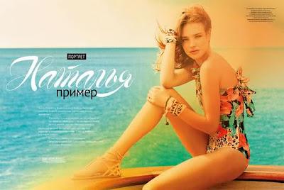 Natalia Vodianova beach beauty