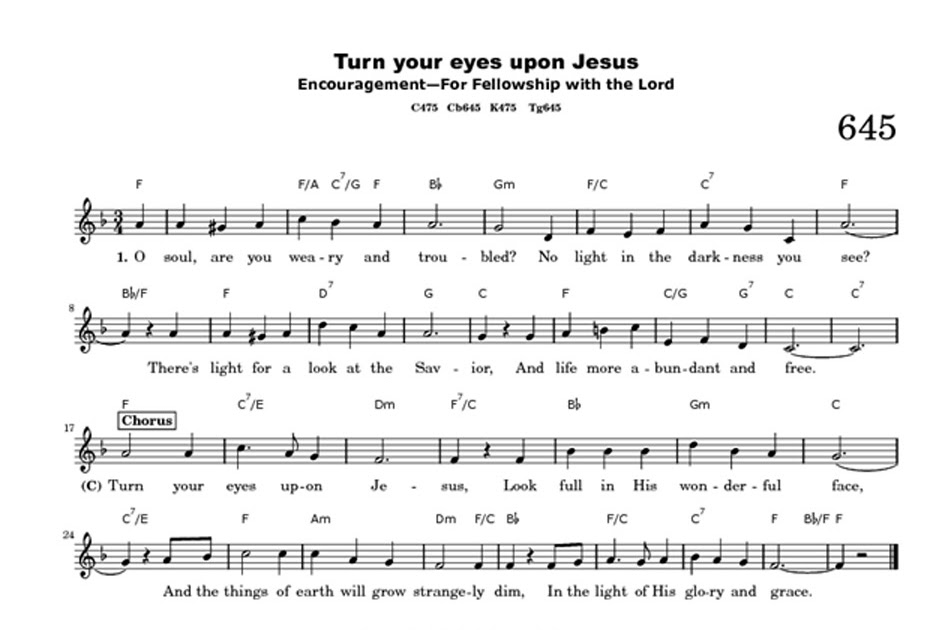 All Music Chords his eye is on the sparrow music sheet : Triple the Scraps: {HSCRC12} Hymn #2, Turn Your Eyes Upon Jesus