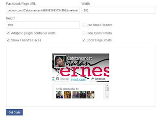 Memasang Fans Page Facebook Pada Blog