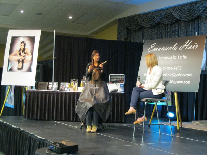 Emanuela during a Live Makeover at the 2012 Grand Home Show