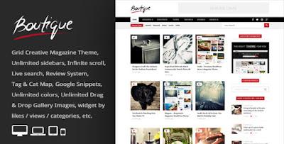 Download Boutique Grid Creative Magazine WordPress Theme