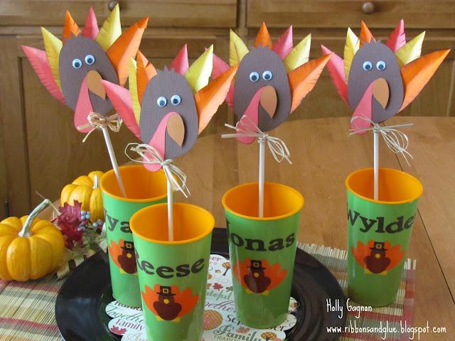 kids table turkeys