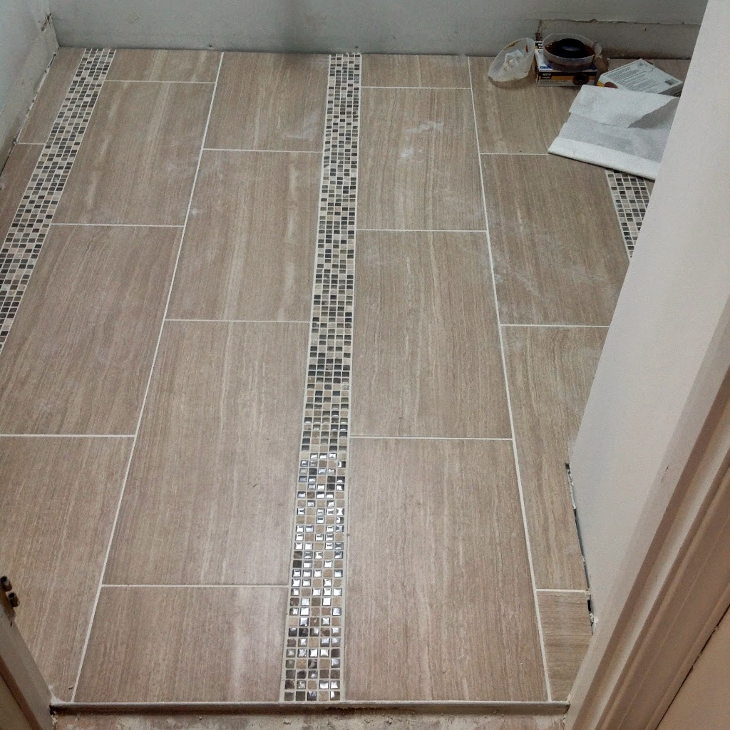 Sopo cottage progress update tile time for 12x24 bathroom tile ideas