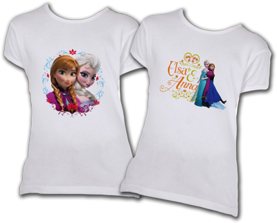 Elsie and Anna T-shirts