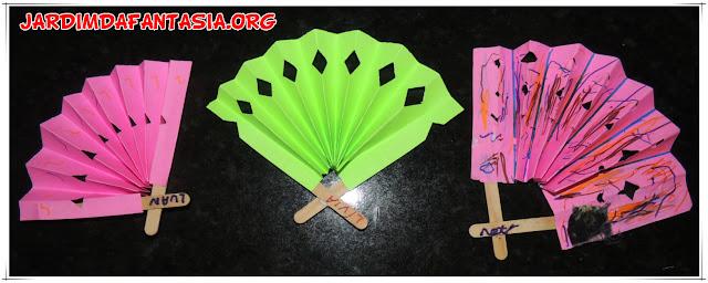 Artesanato para Crianças Leque com Palitos de Picolé